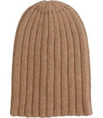 laneus hats in leather color cashmere