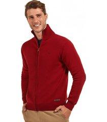 sweater básico con cierre rojo ferouch