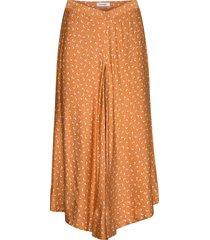 rodebjer tyle paisley knälång kjol orange rodebjer