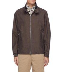 flavin' bottle neck zip up jacket