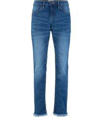 jeans elasticizzati authentic cropped classic (blu) - john baner jeanswear