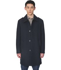 antony morato long coat with flap on shoulders n.blue 7066