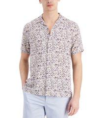 inc men's tropical print camp shirt, created for macy's