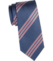 stripe printed silk tie