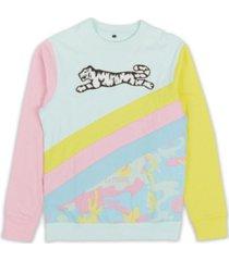 le tigre men's pastel camo crewneck sweatshirt