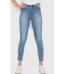 jeans wados pitillo azul - calce ajustado