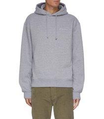 'le sweatshirt jacquemus' logo print drawstring hoodie