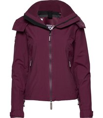 hooded cliff hiker sommarjacka tunn jacka lila superdry