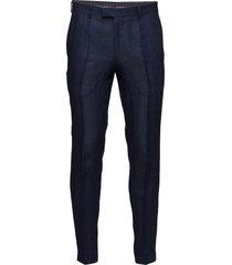 denz trousers casual broek vrijetijdsbroek blauw oscar jacobson