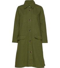 sissa jacket dunne lange jas groen nué notes