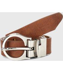 cinturón miel-plateado tannino