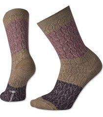 smartwool colorblock crew socks / smartwool colorblock crew socks, bordeaux, medium