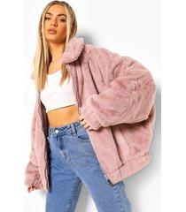 faux fur bomberjack, pink
