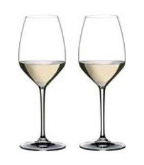 conjunto de 2 tacas para vinho riesling heart to heart 460ml riedel