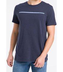 camiseta masculina básica logo linha azul marinho calvin klein jeans - pp