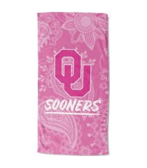 "northwest company oklahoma sooners 30x60 ""pink passion"" beach towel"