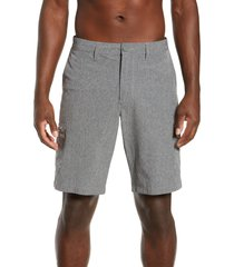 men's tommy bahama cayman isles cargo hybrid board shorts, size 33 - black