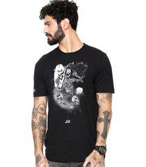 camiseta ...lost surf ruined preta - preto - masculino - dafiti