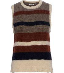 khloe waistcoat vests knitted vests multi/mönstrad nué notes