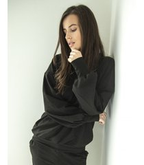 bluza black cotton
