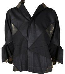 black x gold origami jacket