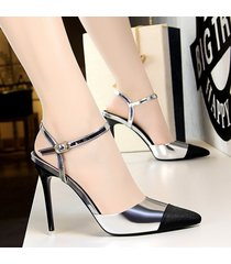 sandalias de gamuza para mujer tacón alto punta sandalias sandalias