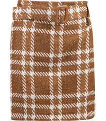 federica tosi checked belted skirt