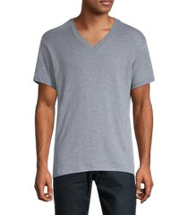 alternative men's v-neck t-shirt - vintage navy heather - size s