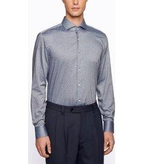 boss men's jason slim-fit cotton shirt