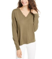 planet gold juniors' v-neck sweater