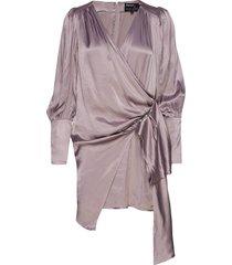 amanda dress korte jurk paars birgitte herskind