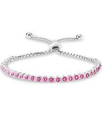 gabi rielle women's renew 14k gold vermeil evil eye slider bracelet