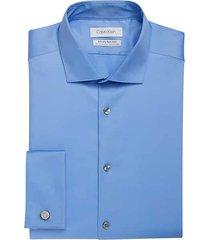 calvin klein men's infinite blue extreme slim fit dress shirt - size: 18 32/33