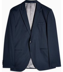 mens selected homme navy check blazer