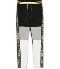 le tigre men's new tri color track pants