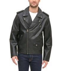 levi's men's classic asymmetrical faux-leather motorcycle jacket