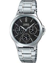 reloj casio ltp v300d 1a - plateado para hombre