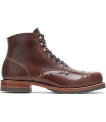 wolverine men's 1000 mile cap-toe boot havana brown, size 14