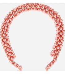 shrimps women's antonia beaded headband - vermillion orange