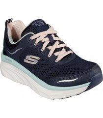 zapatos mujer  d lux walker-infinite motion azul skechers
