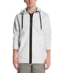 dkny men's interlock full-zip knit hoodie
