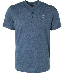 no excess t-shirt granddad 2 coloured melange indigo blue