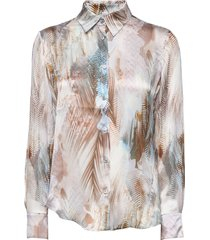 3391 - latia blouse lange mouwen multi/patroon sand