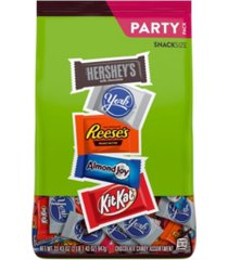 hershey's assortment of milk chocolate, reese's, almond joy, kit kat, york pattie stand up bag, 33.43 oz