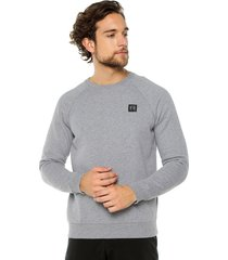 buzo gris under armour rival fleece crew
