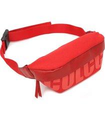 pochete colcci maxi logo vermelha