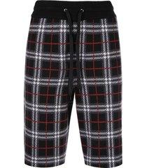 check print drawstring shorts