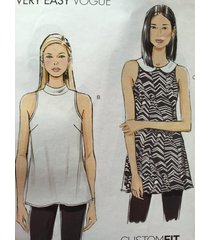 vogue sewing pattern very easy vogue 9109 misses top size 6-14 new