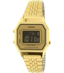 reloj casio retro unisex la680wga-9b  color dorado