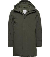 climate shell jacket - grs/vegan parka jas groen knowledge cotton apparel